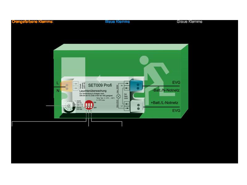 Leuchtenprogrammierung der Business Zentralbatterieanlage CPS